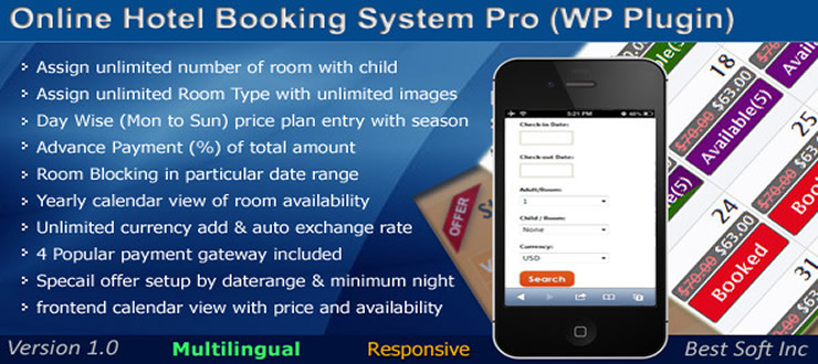 Online Hotel Booking System Pro
