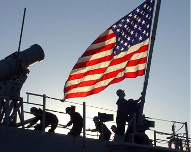 flag us military ship