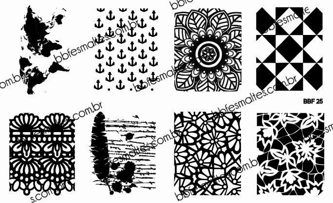 Lacquer Lockdown - Loja BBF, LojaBBF, BBF plates, stamping, nail art, new stamping plates 2014, new nail art plates 2014, new image plates 2014, pueen 2014, cici and sisi, stamping nail art, new plates 2014, diy nail art, at home nail art, cute nail art idea, map nail art, abstract nail art, nautical nail art, lace nails