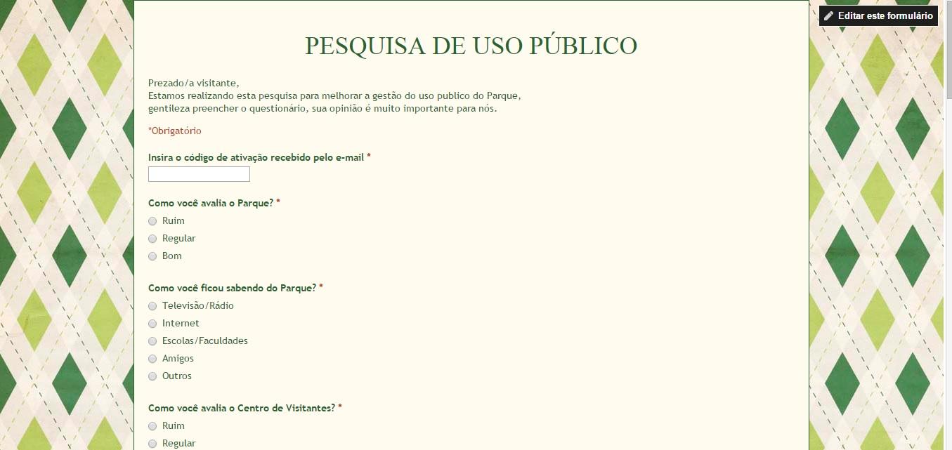 Pesquisa de Uso Público