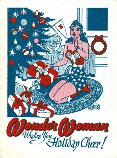 Wonder Woman os desea felices fiestas Ilustración Navidad -Missy Sale-