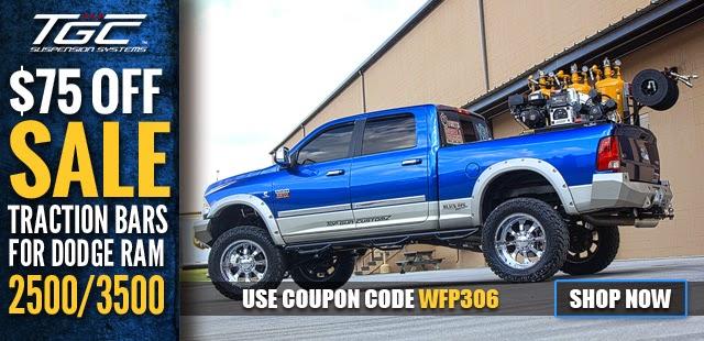 TGC: 03-13 Dodge Ram 2500/3500 Adjustable Rear Steel Ladder/Traction Bars