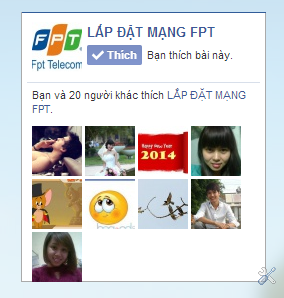 code like fanpage facebook cho blog