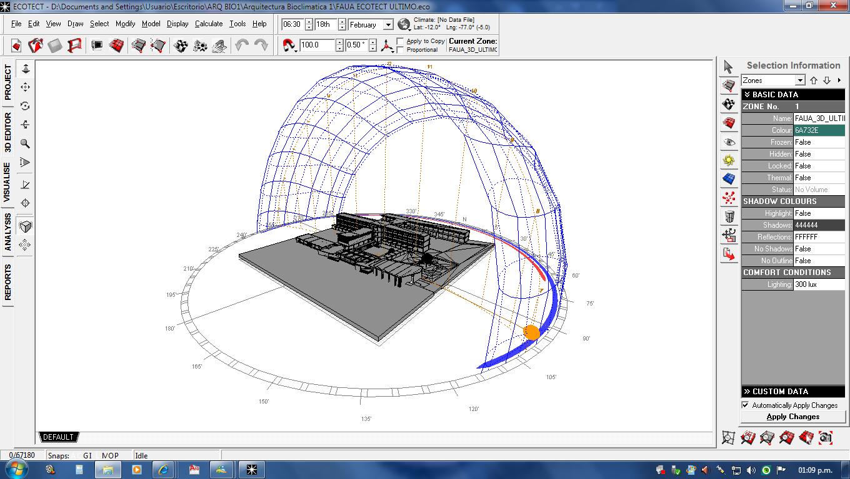 Faua3d asoleamiento faua for Programas de arquitectura 3d
