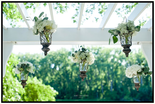 Floating Vases - Hanging Vases - Ceremony Decor - River Stone Manor - Scotia NY - Schenectady - Wedding Flowers - Splendid Stems Floral Designs