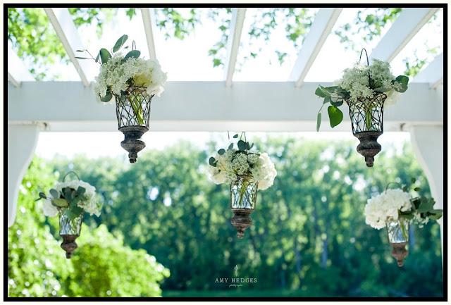 Floating Vases - Hanging Vases - Ceremony Decor - River Stone Manor - Scotia NY - Schenectady - Wedding Flowers - Splendid Stems Floral Designs