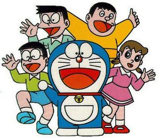 Gambar wallpaper Doraemon dan teman-temannya