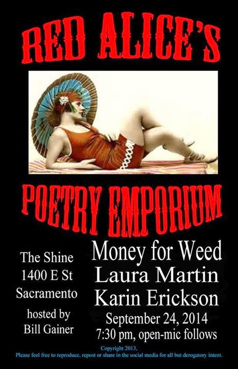 MONEY FOR WEED at Red Alice Weds. (9/24)