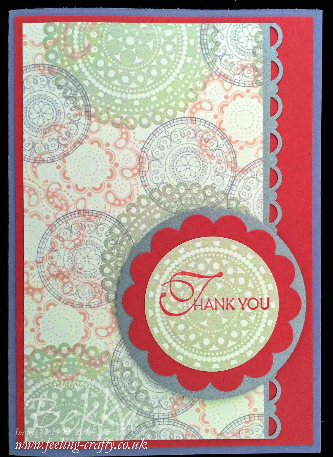 Lacy and Lovely Card Making Class Card from Feeling Crafty - check out their classes they look great!