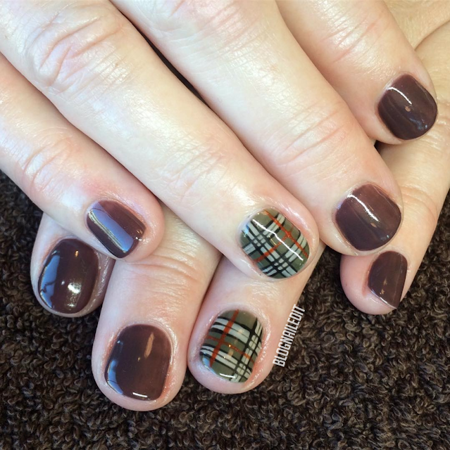 Fall Burberry by Nailed It @ www.blognailedit.co