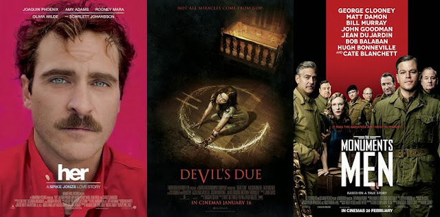 Her, Devil's Due & Monuments Men set to hit Malaysia cinemas early January 2014