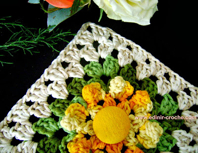 square em croche com emendas da coleção aprendi e ensinei com edinir-croche
