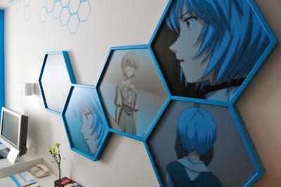 The Futuristic Photo Wall Adds To The Decor I Love It