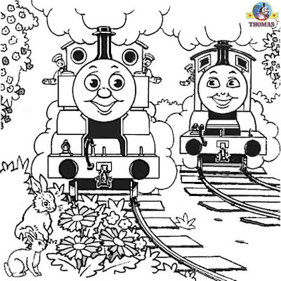 James the red engine Thomas the train pictures printable colouring worksheets for kids to color in