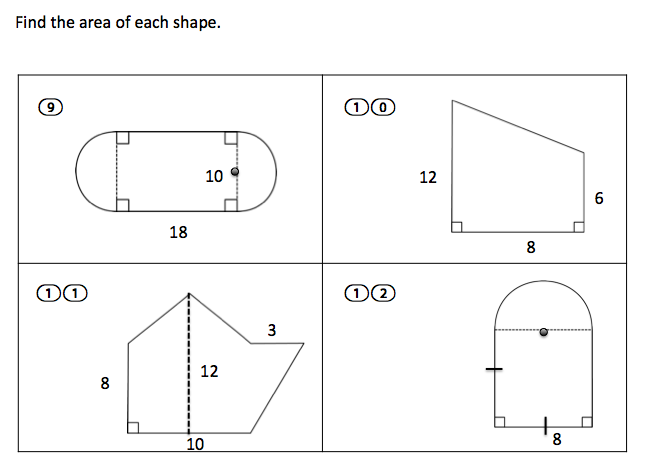 Worksheets Area Of Irregular Figures Worksheet teaching high school math geometry area worksheets have a nice weekend