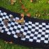 Komin w szachownicę black & white - hand made