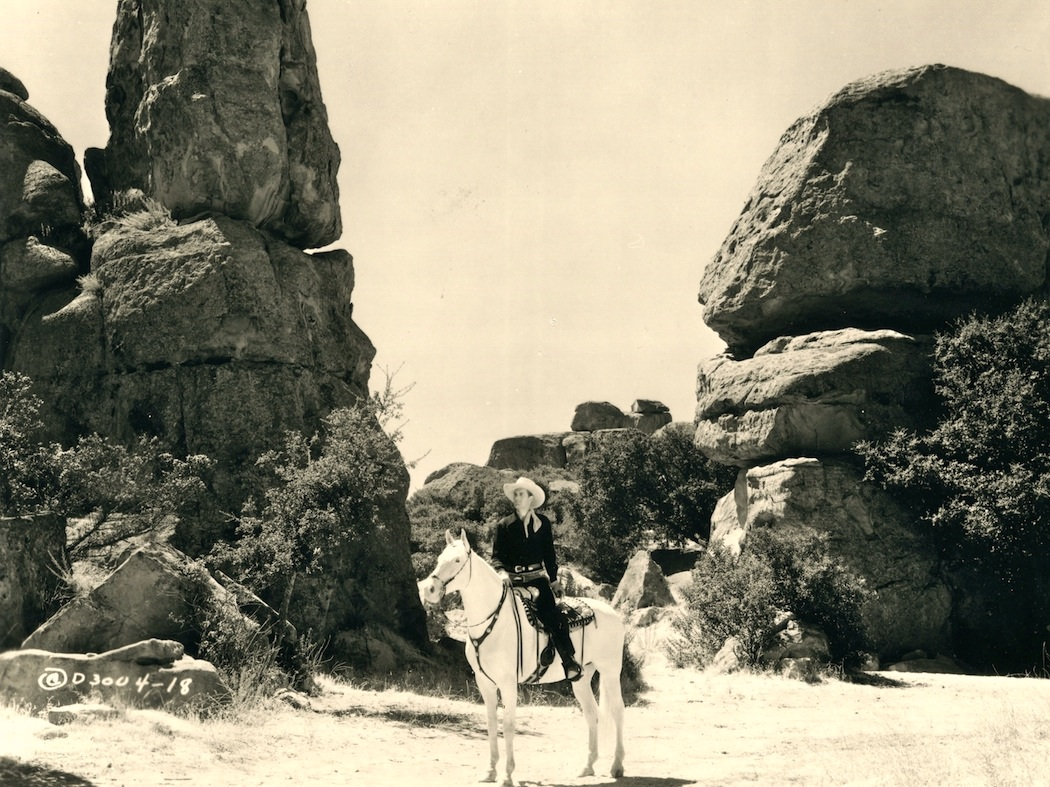 A drifting cowboy homage to six gun heroes and their Garden of the gods horseback riding