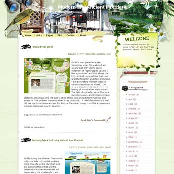 Modern and Ancient Mix Here Blogger Template. free download template blogspot