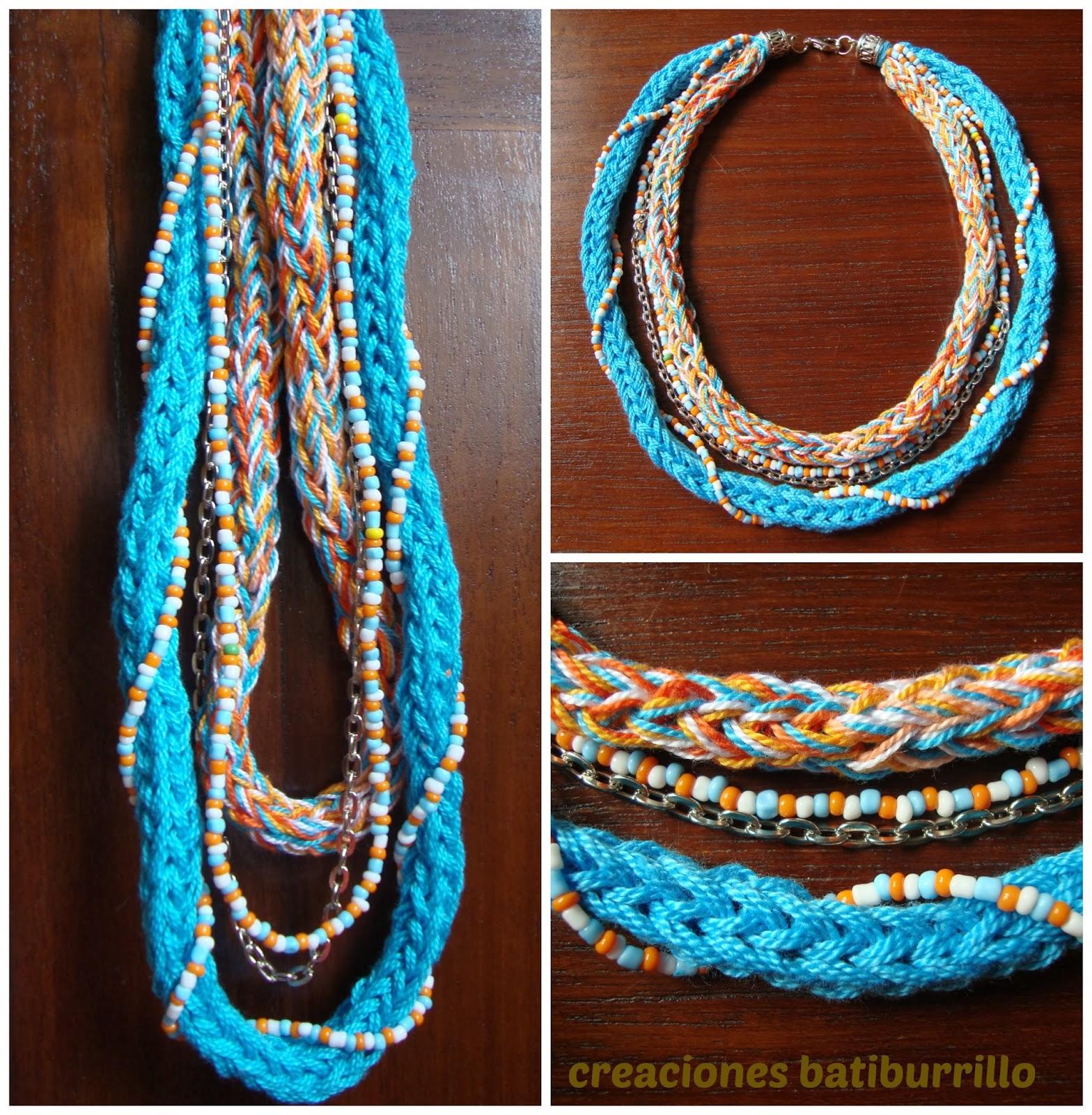 Collar crochet con abalorios