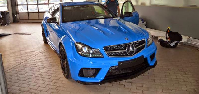 mercedes c 63 coupe blue
