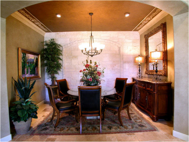Tuscan dining room design ideas room design inspirations - Decoracion de casas antiguas ...
