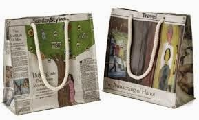 kerajinan tangan dari kertas koran