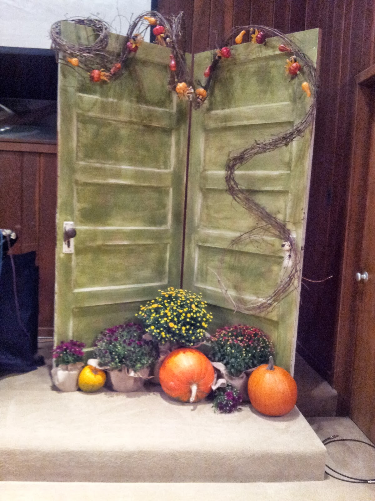Old Door Decorating The Ferrell Boys And Me Fall Inspiration At Church