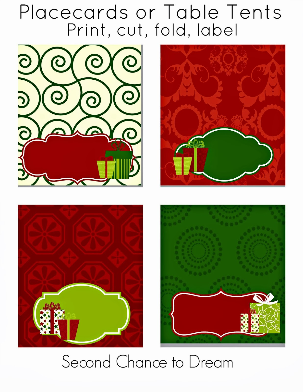 christmas party printables second chance to dream christmas party printables
