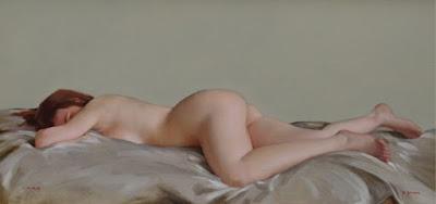 Pintura Hiperrealista Mujer Desnudo Artistico
