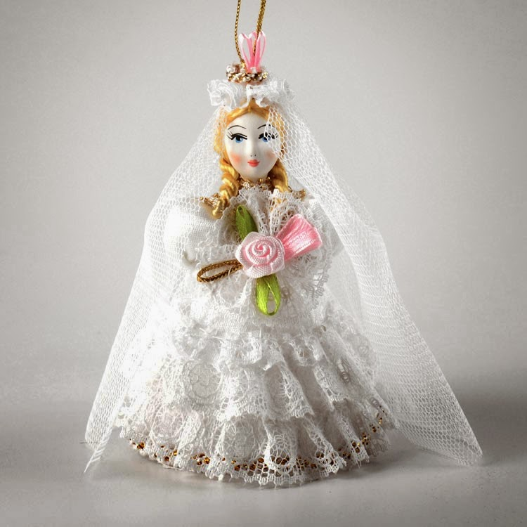 Hand-crafted Bride Ornament Doll