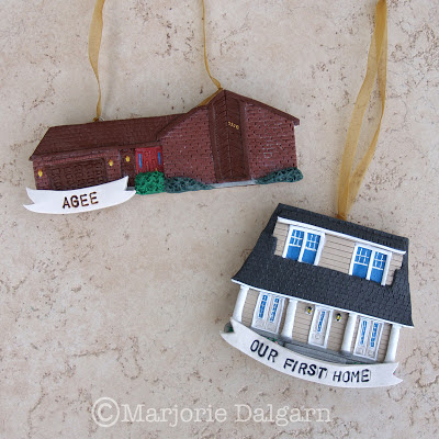 Custom Polymer Clay House Ornaments | livingwiththreemoonbabies.blogspot.com