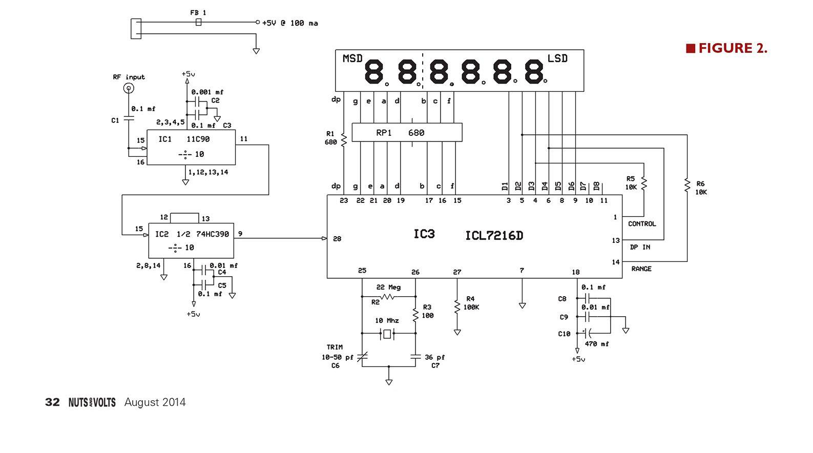 Frequency Counter Preamplifier Circuit : Osman dousin simple icm d frequency counter