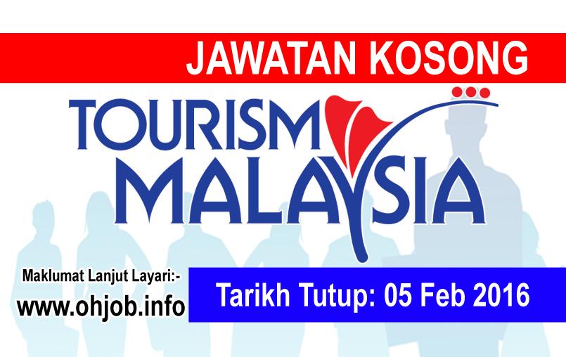 Jawatan Kerja Kosong Tourism Malaysia logo www.ohjob.info februari 2016