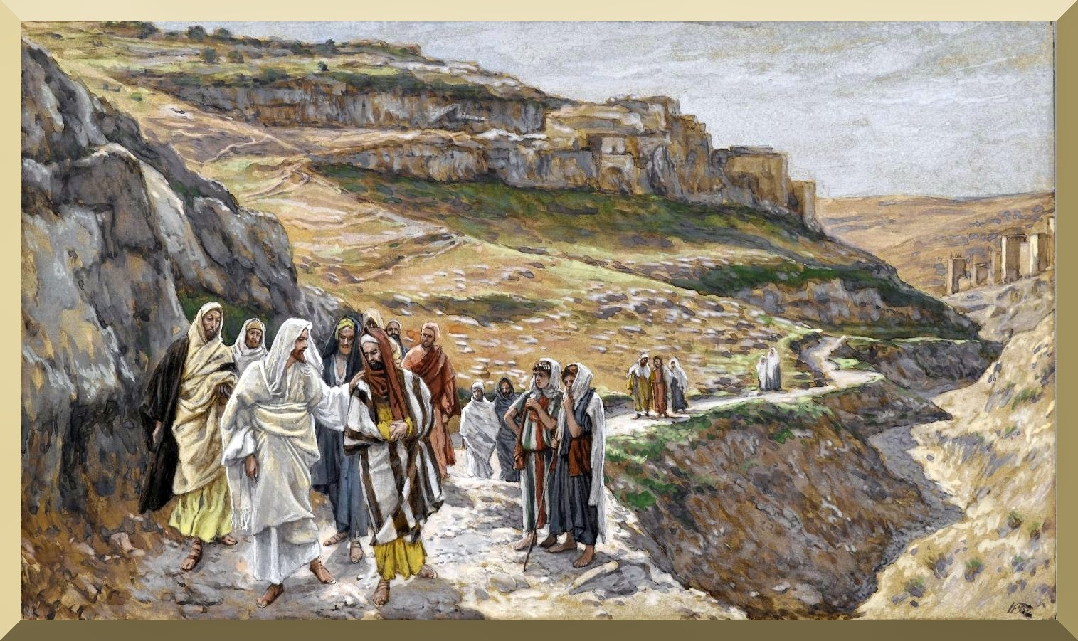"""Jesus Discourses with His Disciples"" -- by James Tissot"