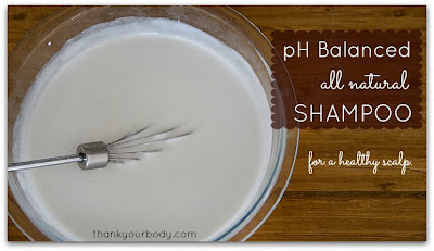 pH Balanced Homemade Shampoo