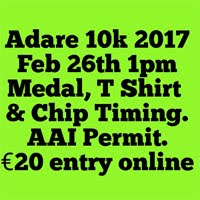 Adare 10k race in Limerick...Sun 26th Feb