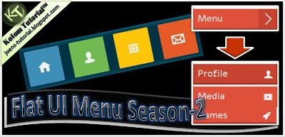 flat ui menu, ui, flat, flat menu, tutorial blog