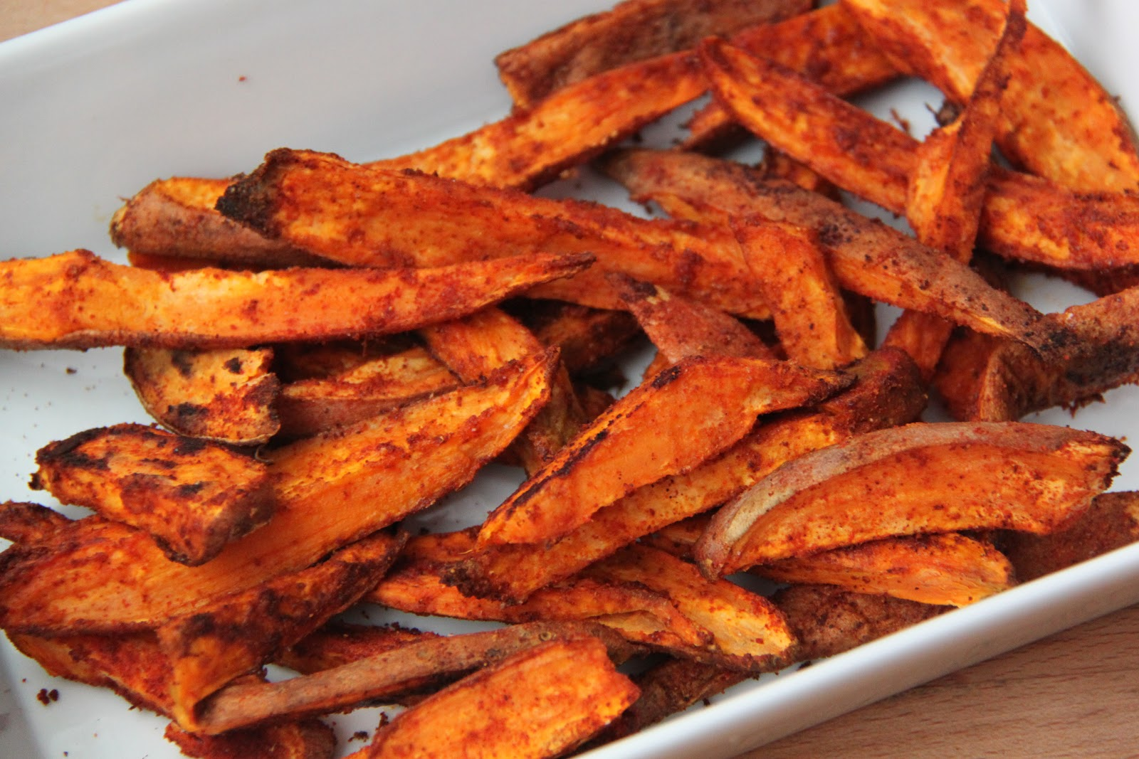 RECIPE: Oven Baked Sweet Potato Fries - Smashed Peas & Carrots