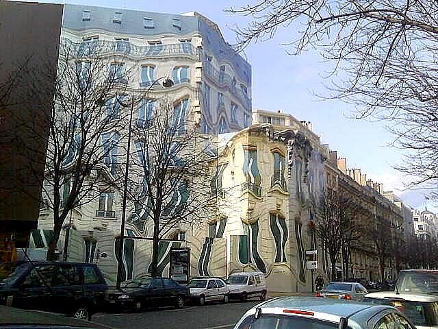 Melting Building in Paris, France