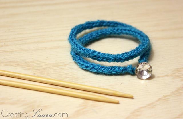 Creating Laura: Wrap Bracelet Knitting Pattern