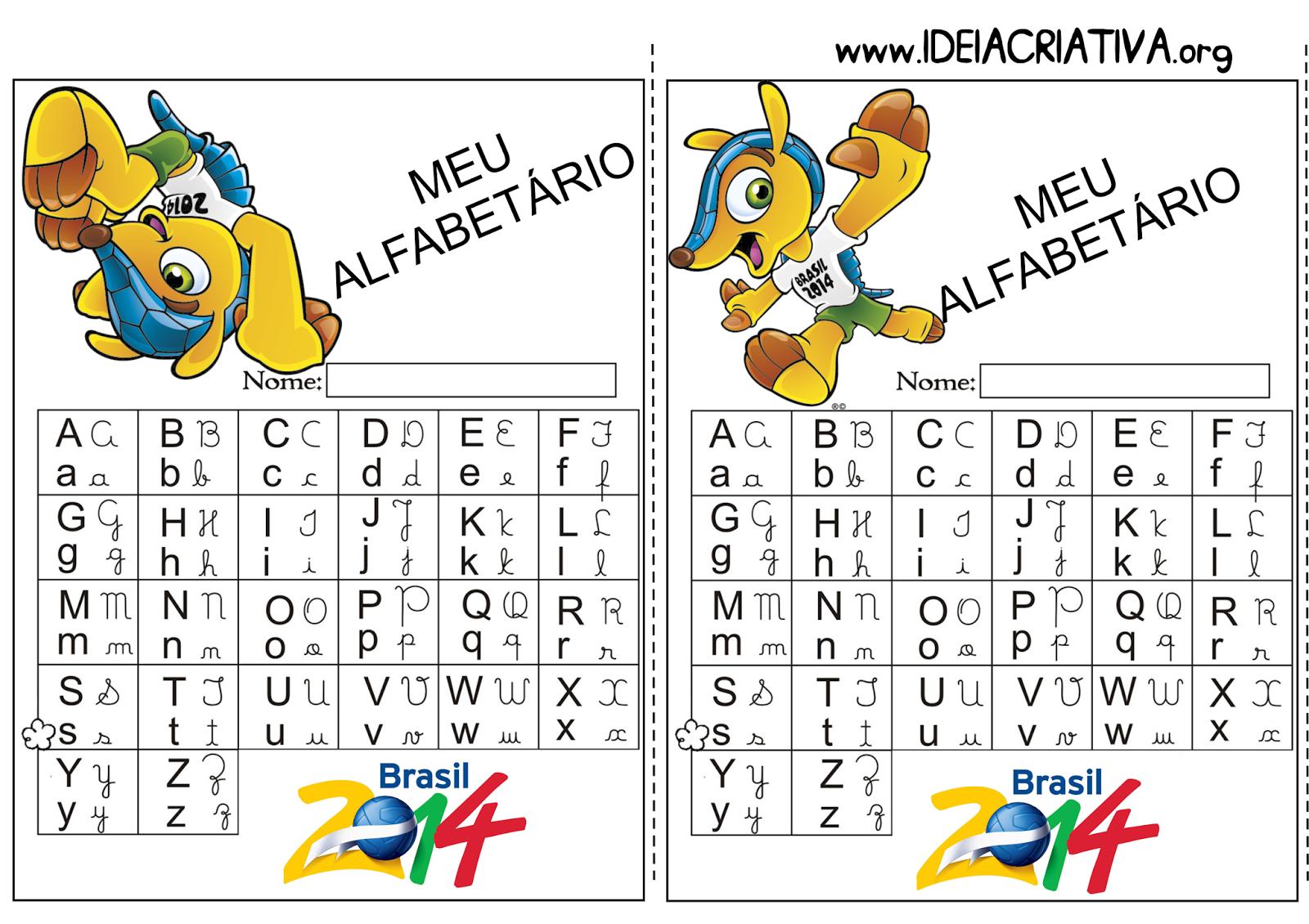 Alfabetário Copa do Mundo Fuleco