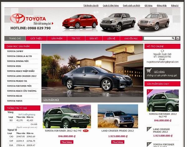thiết kế website bán hàng ô tô giá rẻ
