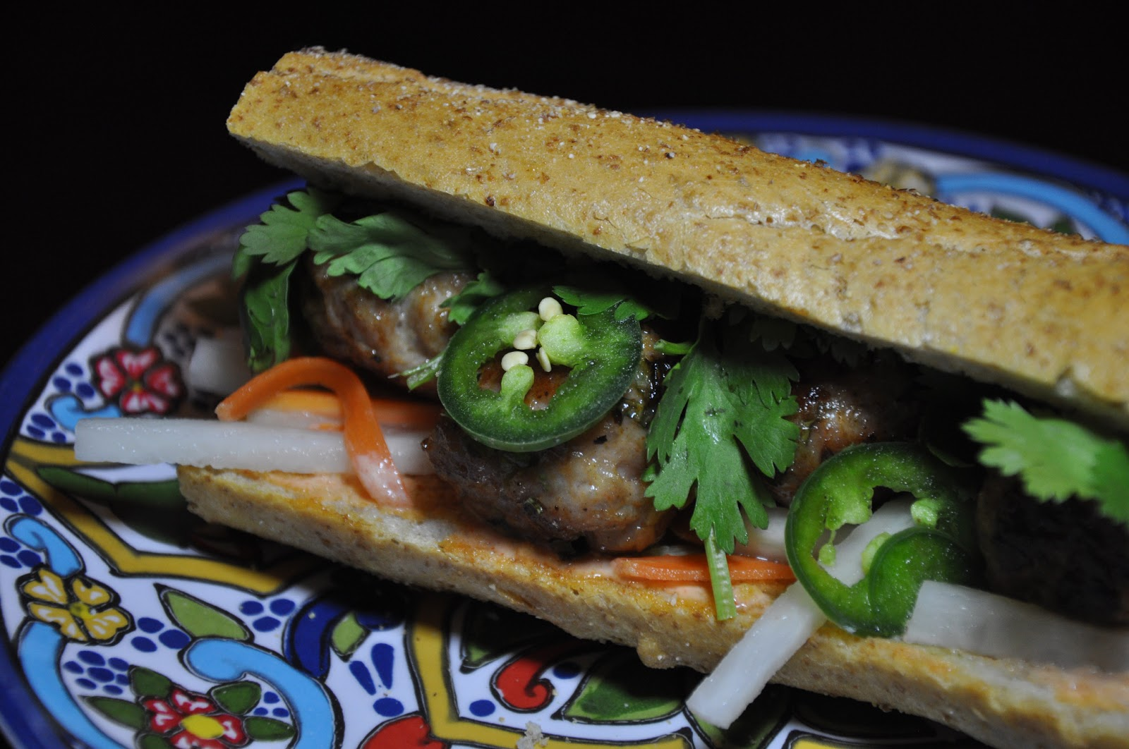 Slice of Rice: Pork Meatball Banh Mi