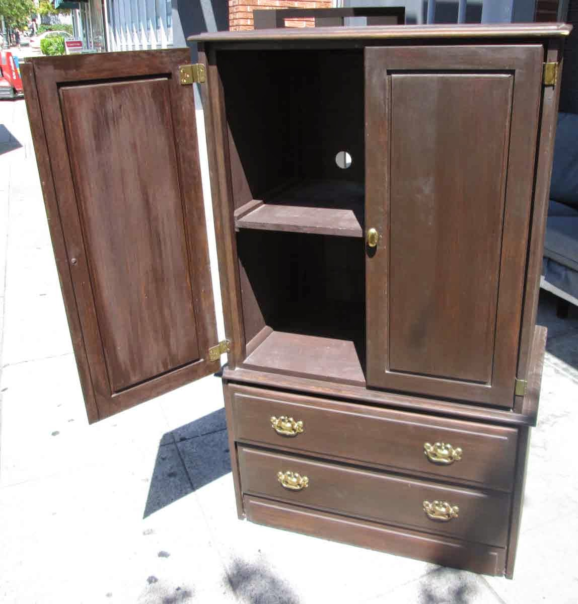 Uhuru Furniture Collectibles Sold Wood Armoire 95