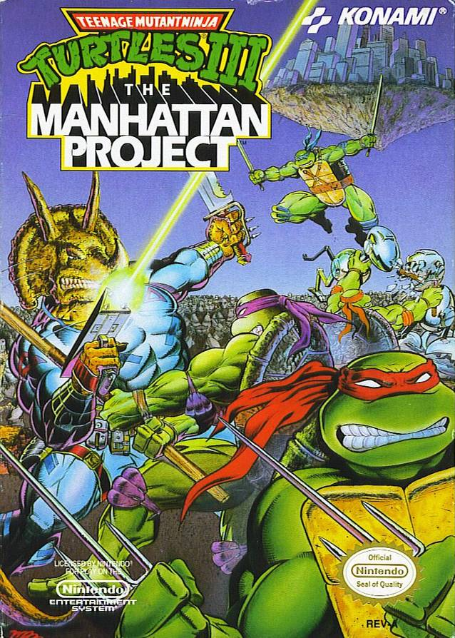 """tmnt manhattan project Tmnt 3 the manhattan project (nes) j&mm mike matei / april 13th, 2015 this week, james rolfe, mike matei and special guest doug walker play """"teenage mutant ninja turtles iii: the manhattan project"""" for nes."""