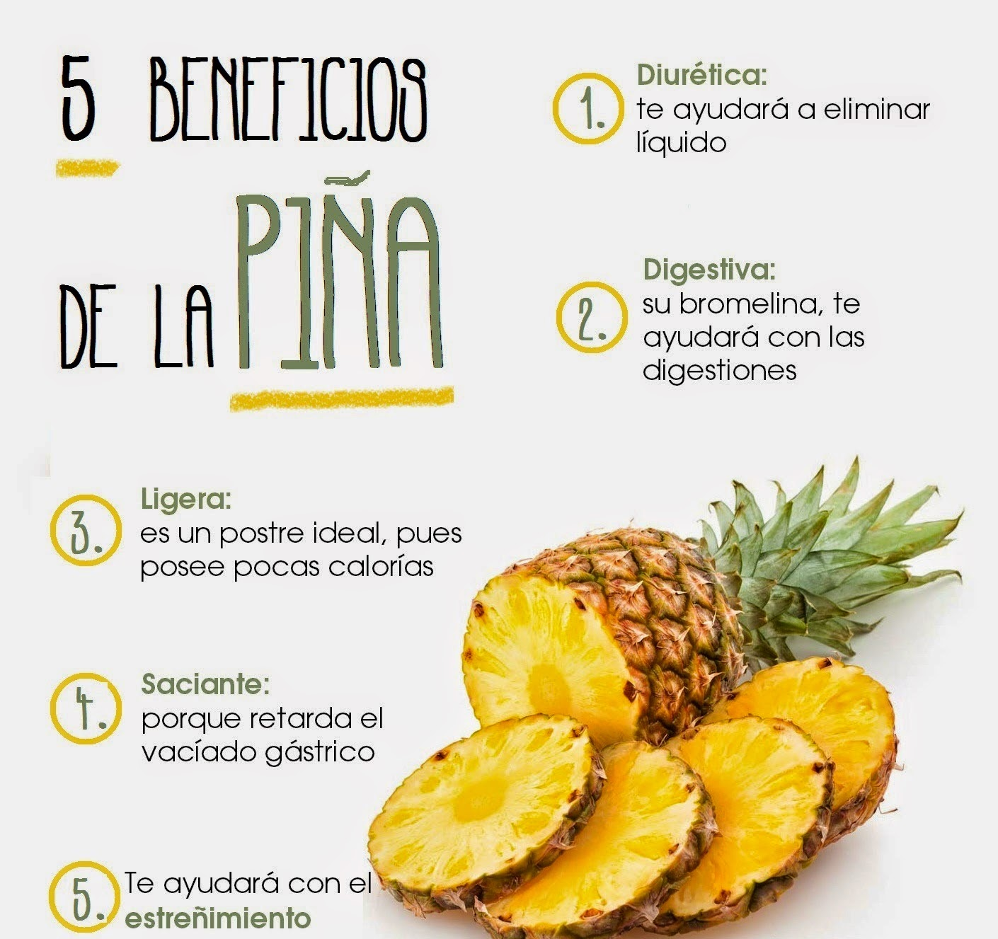 Beneficios de la piño