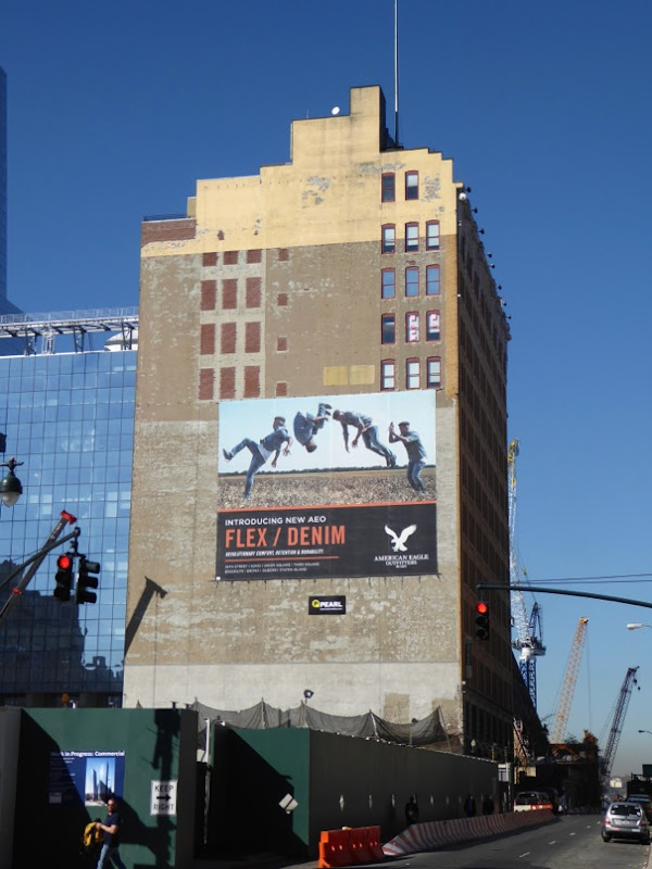 Giant AEO Flex/Denim billboard NYC