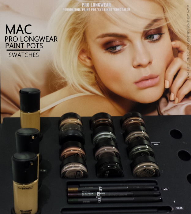 MAC Pro Longwear Makeup Collection - Paint Pots - Swatches