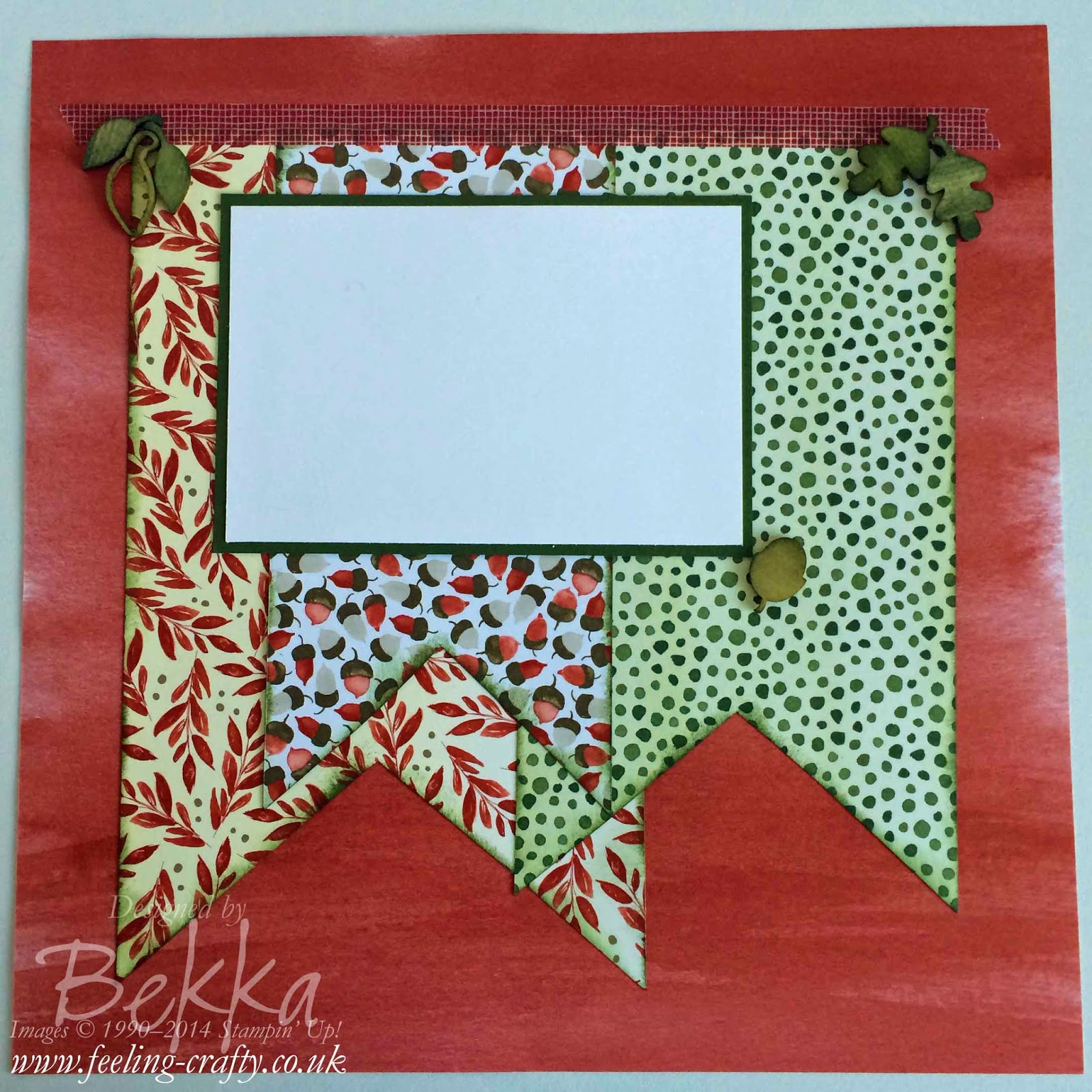 Autumn Scrapbook Page by Stampin' Up! UK Independent Demonstrator Bekka Prideaux - check out her blog