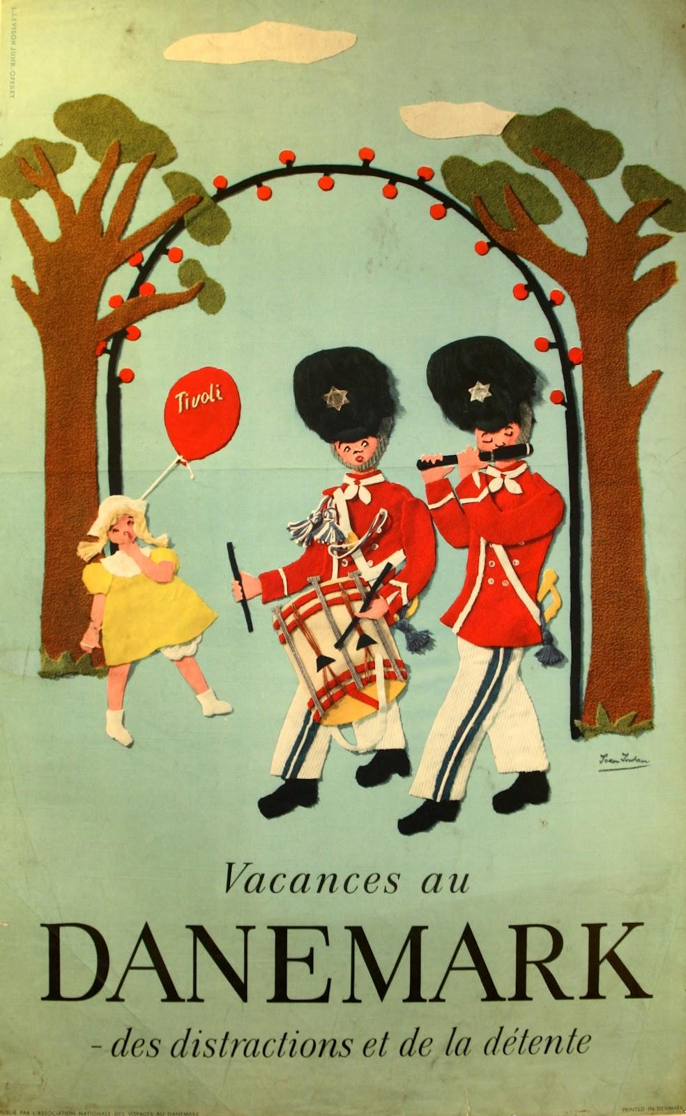 Vintage Danish Tourist Posters